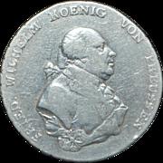German States Prussia Ein Thaler Coin - 1793 - A - VF Details - Slabbed