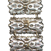 Classic Mexican Silver Link Bracelet - 1920's