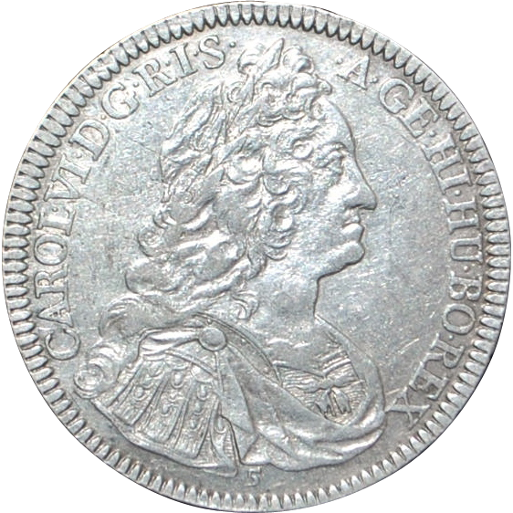 Emperor Charles VI Silver Thaler Coin, Type No. 5 - 1737