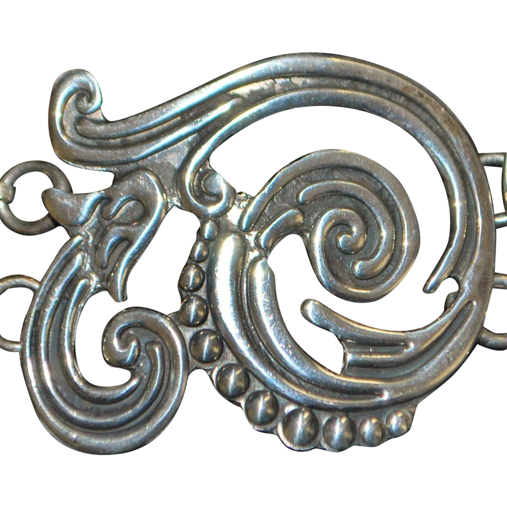 Mexican Sterling Silver Wave  Bracelet - 1980's