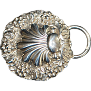 French Art Nouveau Lady's Silver Belt Buckle - 1900