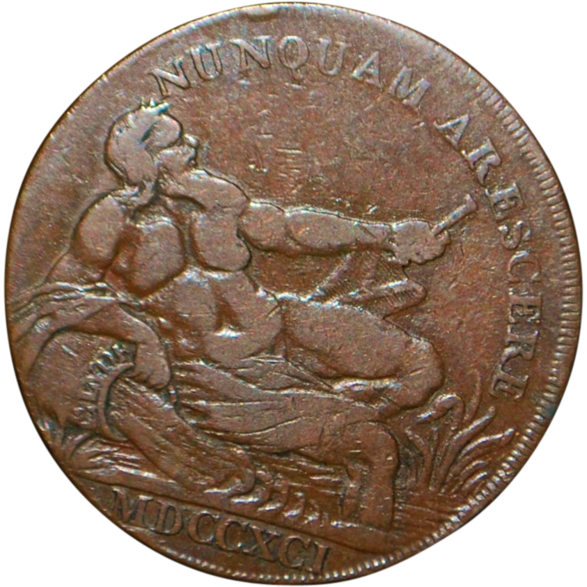 Scottish Copper Half Penny - 1791 - VF