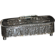 Dutch 833 Silver Footed Tea or Tobacco Caddy Box - 1887