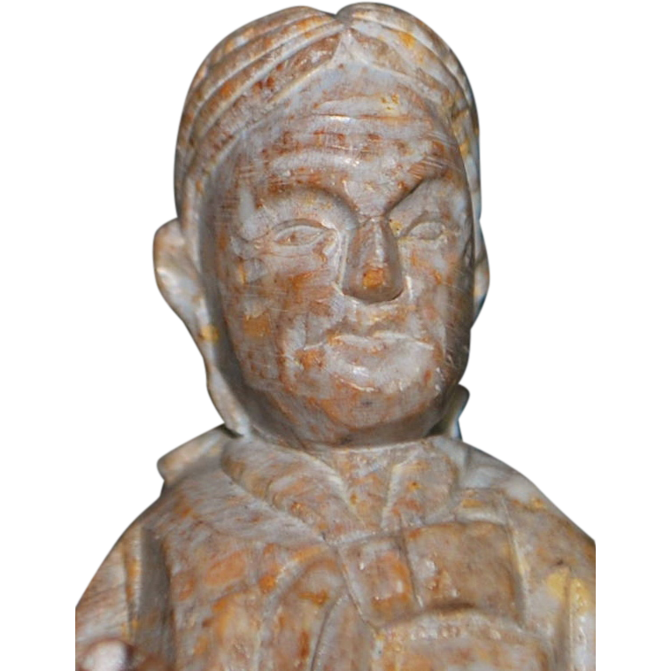 Chinese Hand Carved Figural Soapstone Seal