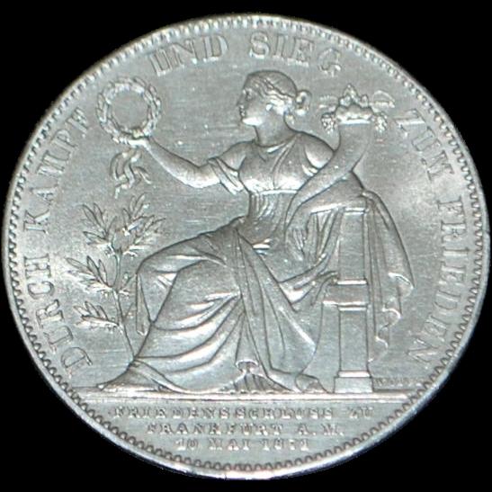 German Bavaria Thaler Silver Coin - 1871 - Uncirculated