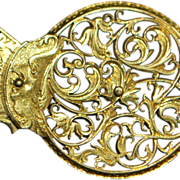 English 18th Century Pinchbeck Balance Cock Brooch - 1780's