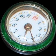 "Rare Swiss Gentleman's ""Buttonhole"" Enamel Dial Watch - 1890's"