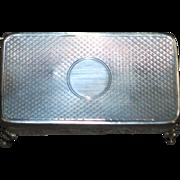 English Edwardian Gents Sterling Silver Cuff Links Box - 1910