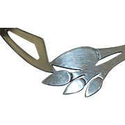 Mexican Sterling Silver Leaf Collar Necklace - 1980's