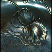 Large Art Nouveau Pewter Floral Bowl - Kayserzinn - 1900