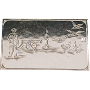 "Heavy German 835 Silver ""Rebus"" Case - 1920"