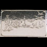 """German 835 Silver """"Rebus"""" Case - 1920"""