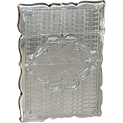 American Gorham Sterling Silver Card Case - 1869