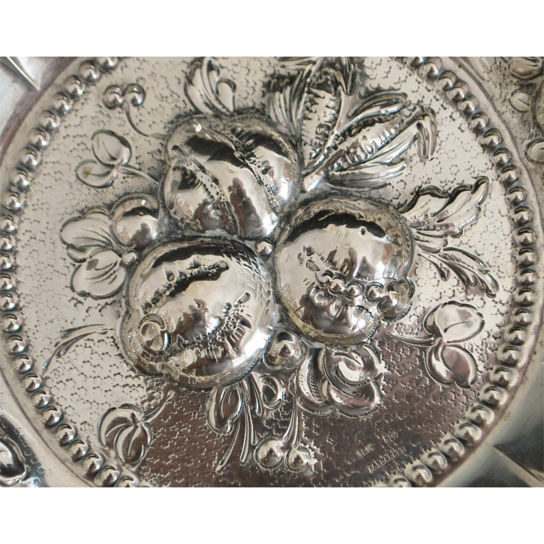 Fine German Repouse  800 Silver Bowl - 1920's