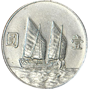 "Chinese Silver One Dollar ""Junk"" - 1934 - AU Details"