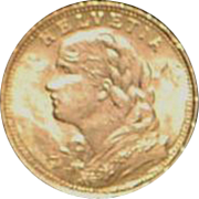 Mint Swiss 20 Francs Gold Coin - 1930B