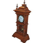 Large Fancy German Table or Shelf 8- Day Striking Clock - 1900