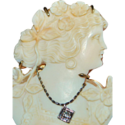 !4K Fancy Tri-color Cut Out Cameo Brooch - 1920's
