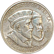 United States Half Dollar - Huguenot Walloon - 1924 - XF