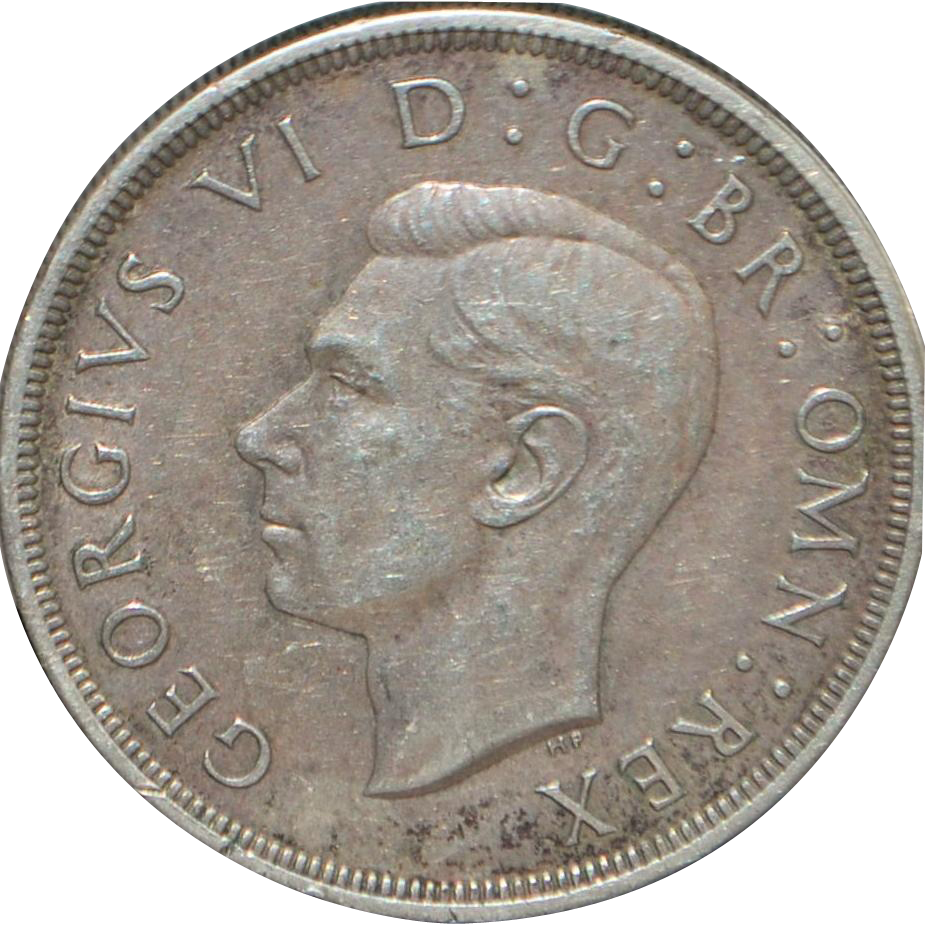 English Large Silver Crown Coin - 1937 - XF