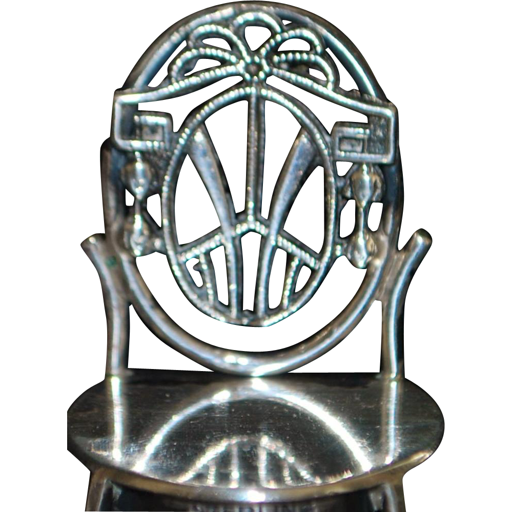 Sterling Silver 3-piece Miniature Furniture Set - 1920's