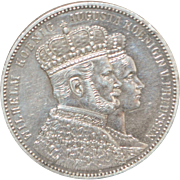 German States - Prussia One Thaler Silver Coin - 1861-A - AU Details