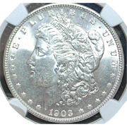 United States Morgan Dollar, 1903 - MS-64 - Slabbed