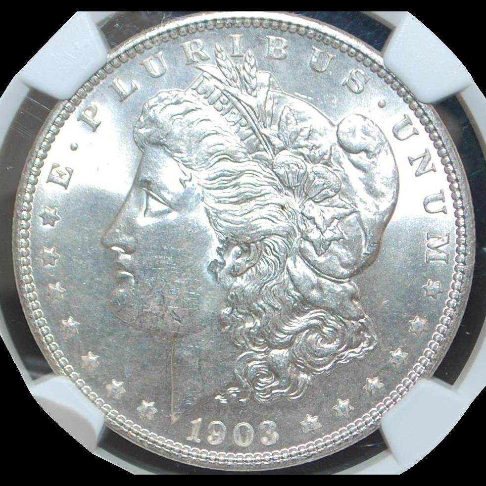 United States Morgan Dollar, 1903 - MS-64 - Slabbed