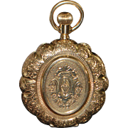 Fine 14K Gold Swiss Hunting Case Pocket Watch - 1890's
