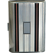 Tiffany & Co. Art Deco Sterling and Enamel Case, 1930's