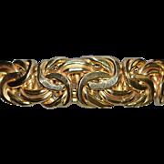 14K Italian Graduated Gold Necklace - 1980's