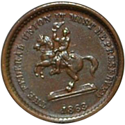Civil War Token- Washington on a Horse - 1863