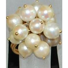 18K Italian Cultured Pearl Tassel Ring