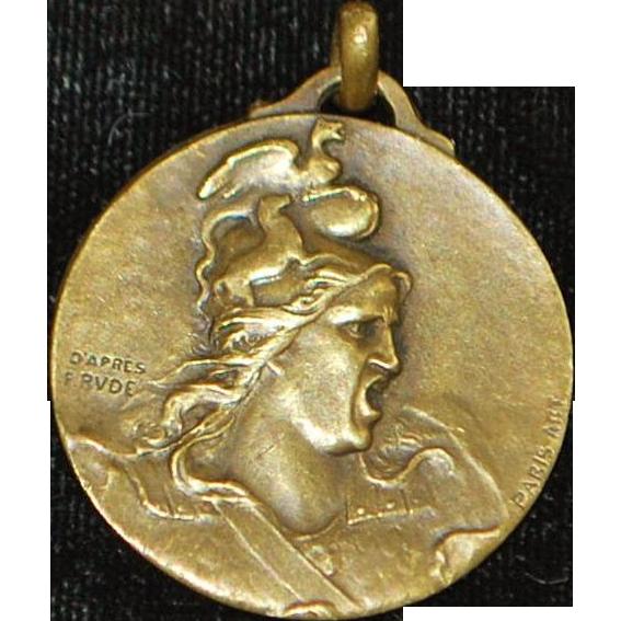 French Grand Tour Bronze Pendant - Paris Art - 1890's