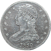 United States Silver Liberty Half Dollar - 1839 - XF