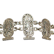 Egyptian 900 Silver Filigree Bracelet - 1920's