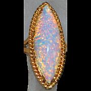 18K Large Ethiopian Flame Opal Ring