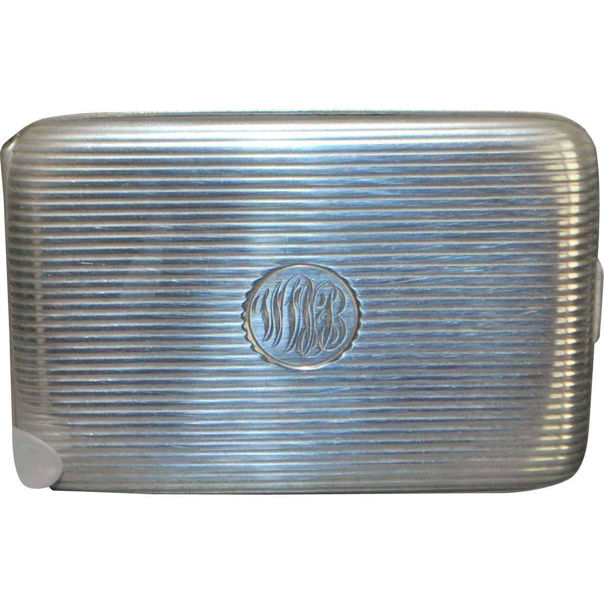 Large Heavy Sterling Silver Case - 1920's