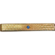 "14K Gold Retro ""Illusion"" Tie Bar - 1940's"