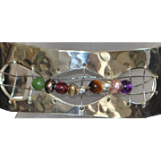 Sterling Mid-Century Modern Cuff Bracelet - 1960