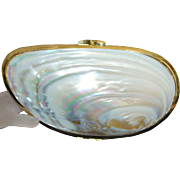 Lady's Mother-OF- Pearl Evening Clutch Purse - 1980's