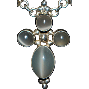 Sterling Silver Moonstone Necklace - 1980