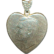 World War II Sterling Silver Sweetheart Necklace - 1944