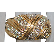 14K Pave Diamond and Gold Dome Ring - 1960's