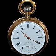 Fine 14K Swiss OF Pocket Watch - 1890's