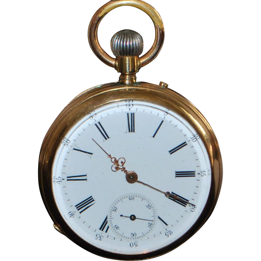 Fine 14K Swiss OF Pocket Watch - 1890's