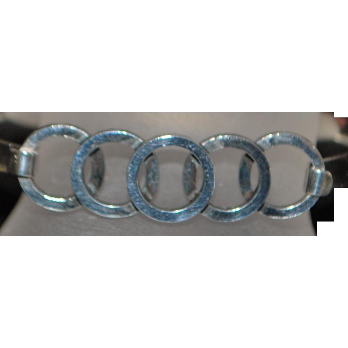 Modernist Erik Granit Olympic Rings Bracelet - 1984
