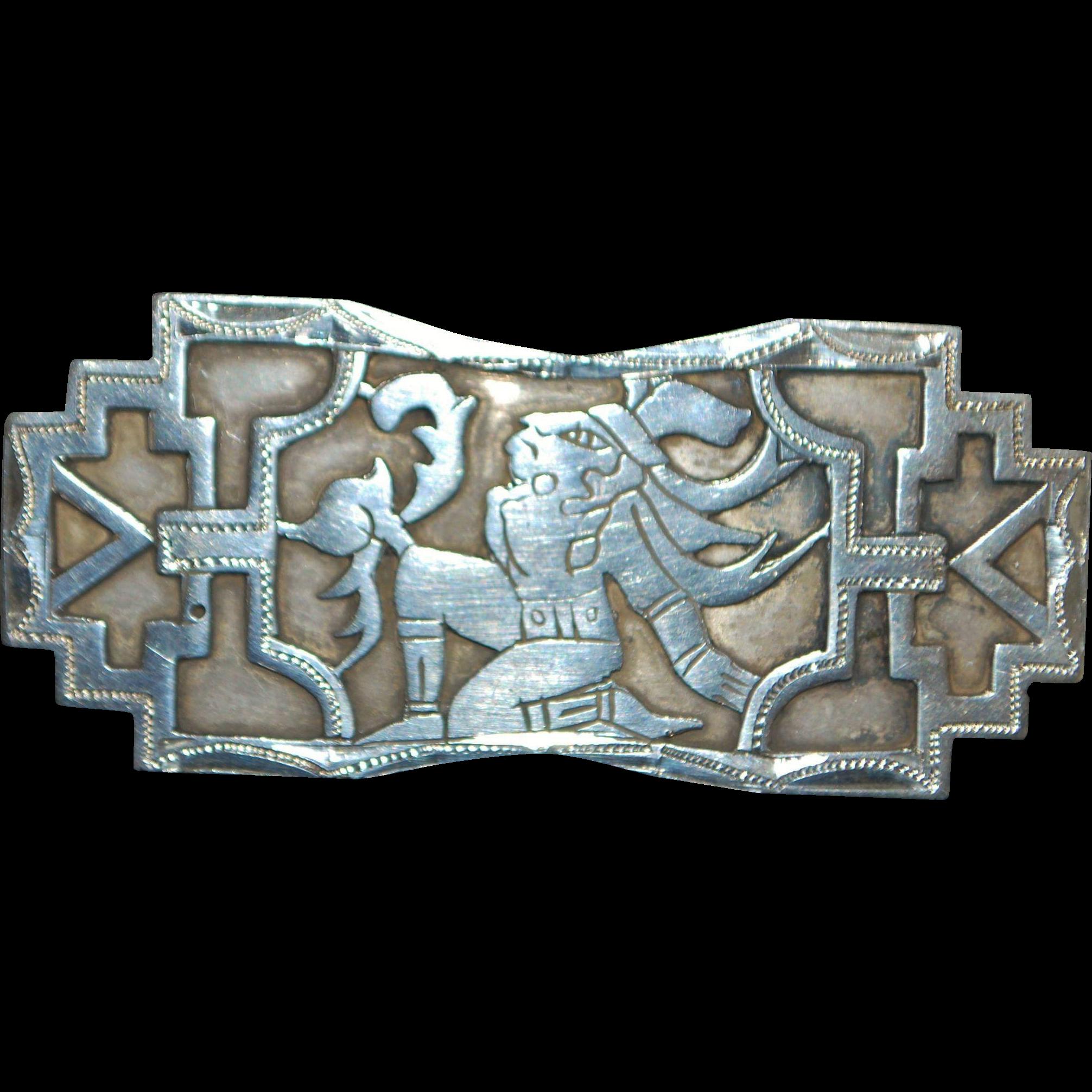 Guatemalan Chumil 900 Silver Brooch