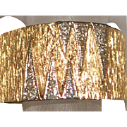 14K Custom Retro Diamond and Gold Band - 1960's