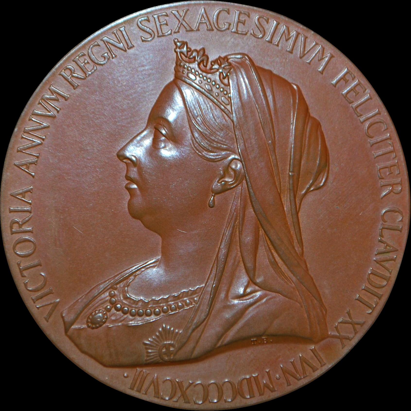 Royal Mint Queen Victoria Jubilee Bronze Medal, Original Box - 1897